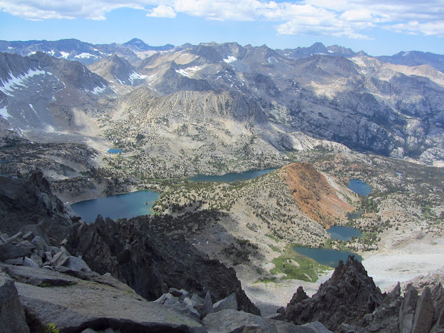 Chocolate Mountain below with a ring of lakes