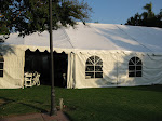 The reception tent before the ceremony