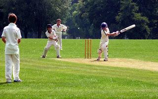 Gogarty bowls the Horsham Trinity batsmen