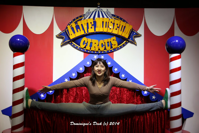 Doing the split at the circus