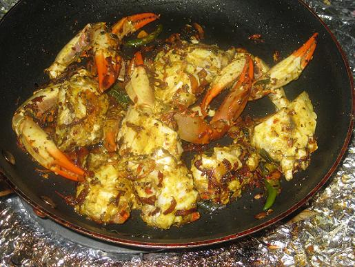 spicy kerala crab fry
