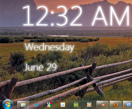 Windows 8 Desktop Clock For Your Windows 7