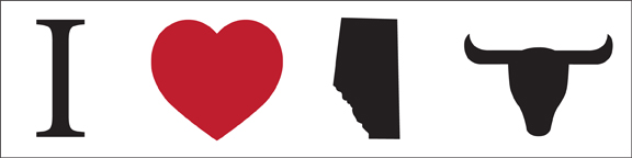 "The ubiquitous ""I Heart Alberta Beef"" Bumper Sticker"