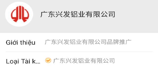 Hàng Xingfa thật sẽ có thông tin sau khi quét mã QR như sau