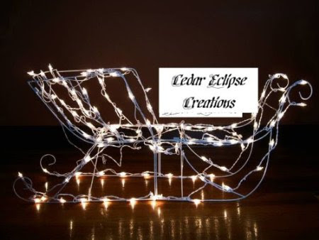 42 inch lighted sculpture christmas sleigh/sled 105 lights