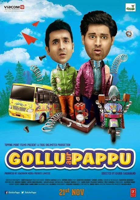 Poster Of Hindi Movie Gollu Aur Pappu (2014) Free Download Full New Hindi Movie Watch Online At Alldownloads4u.Com