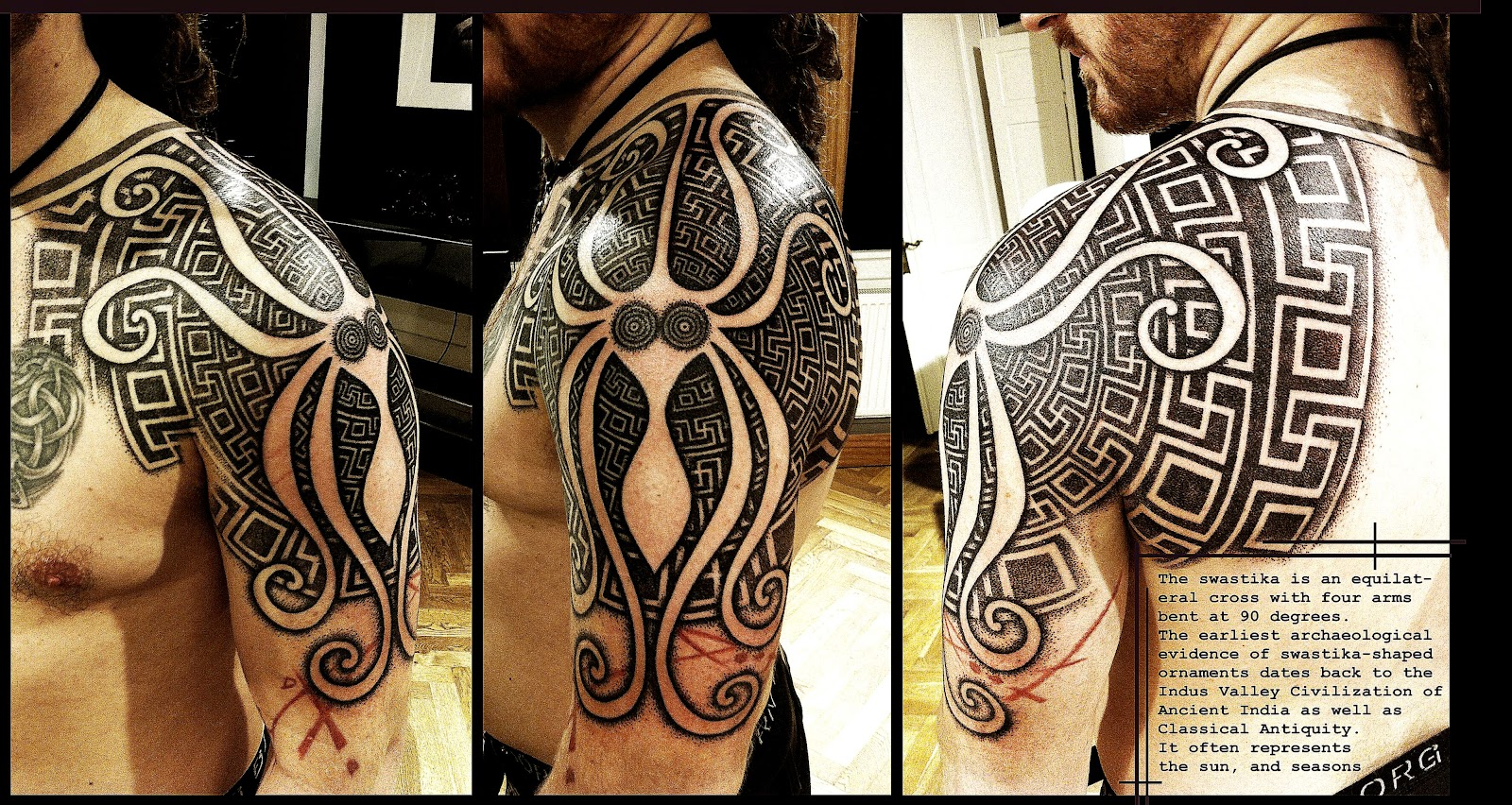 Greek Swastika shoulderpiece by Meatshop Tattoo on DeviantArt