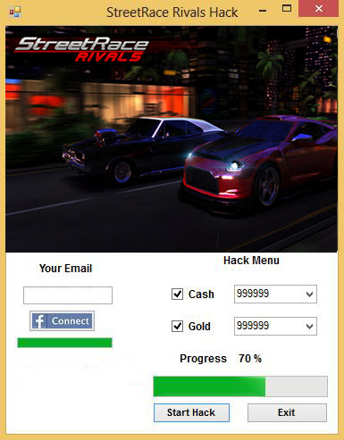 Streetrace Rivals Hack without survey