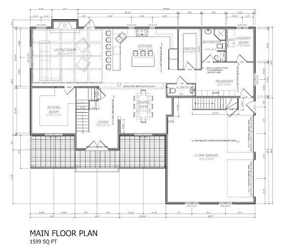 Thousand square feet our house plan main floor for 576 sq ft floor plan