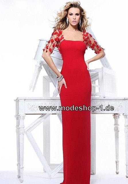romantisches langes abendkleid in rot mode abendmode rot. Black Bedroom Furniture Sets. Home Design Ideas