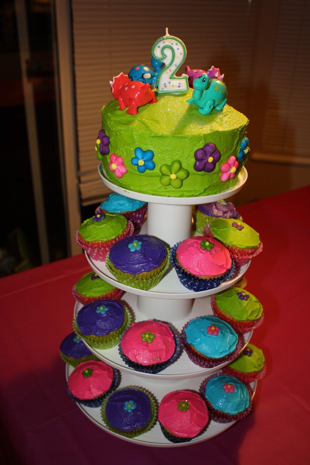 Joyful Mommies Dinosaur Princess Cupcake Tower