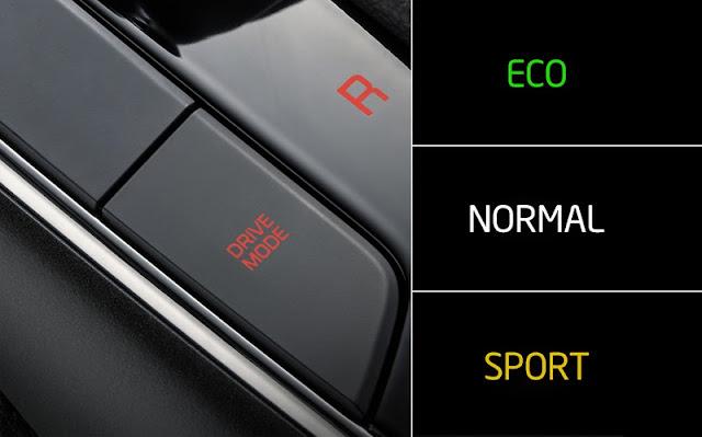 3 chế độ Eco Normal và Sport của Cerato thiết lập những thông số khác nhau của động cơ, hộp số cũng như trợ lực tay lái, nhằm mang lại sự thích ứng của người lái với các điều kiện sử dụng khác nhau