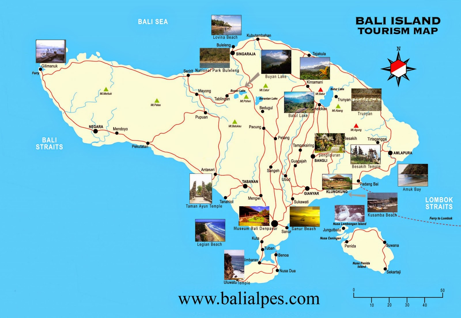 places to go in bali