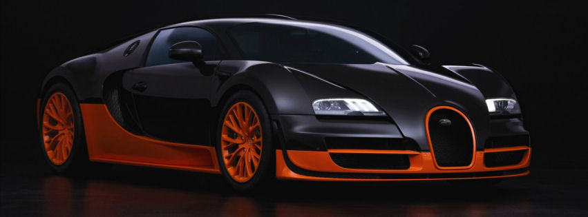 Bugatti veyron sports facebook cover