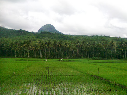 Gunung Suwur dilihat dari desa senden Kecamatan Kampak