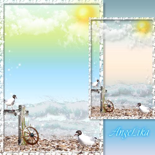 Рамка для фото - Море, солнце и чайки