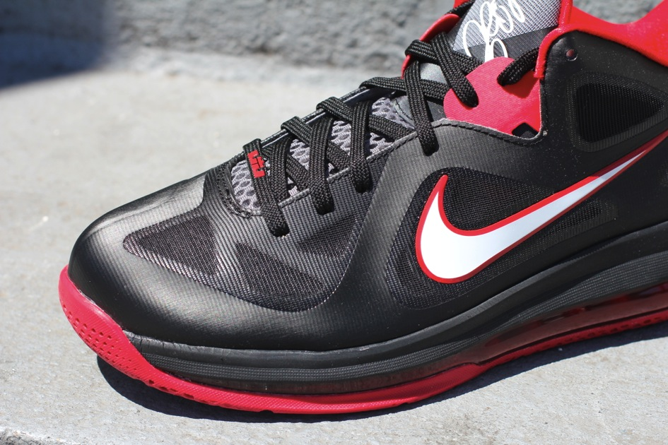 quality design 629be 20d32 ... Nike LeBron 9 Low 8211 Black White Red 8211 Available ...