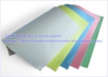 Papel periódico de colores