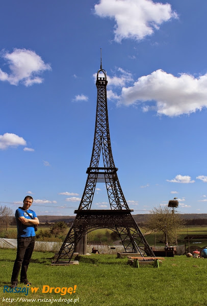 Park Miniatur Chocielewko - wieża eiffla