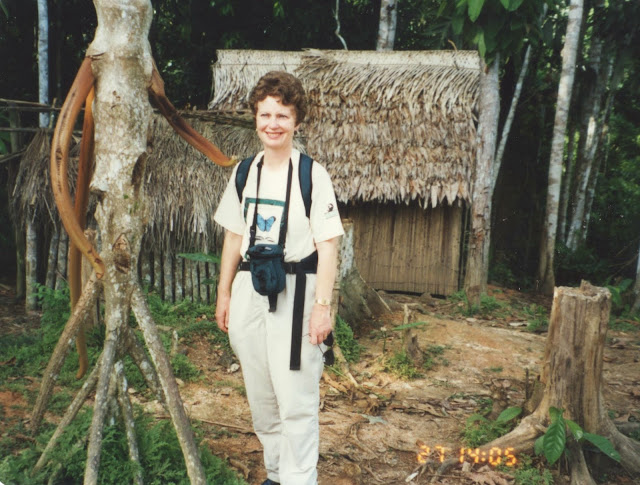 What do you do if you are a 3rd grader who desperately wants to visit a rainforest? Jay Blaine's Mom in the rainforest