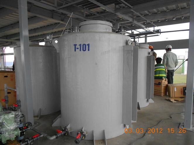Bồn composite chứa polymer