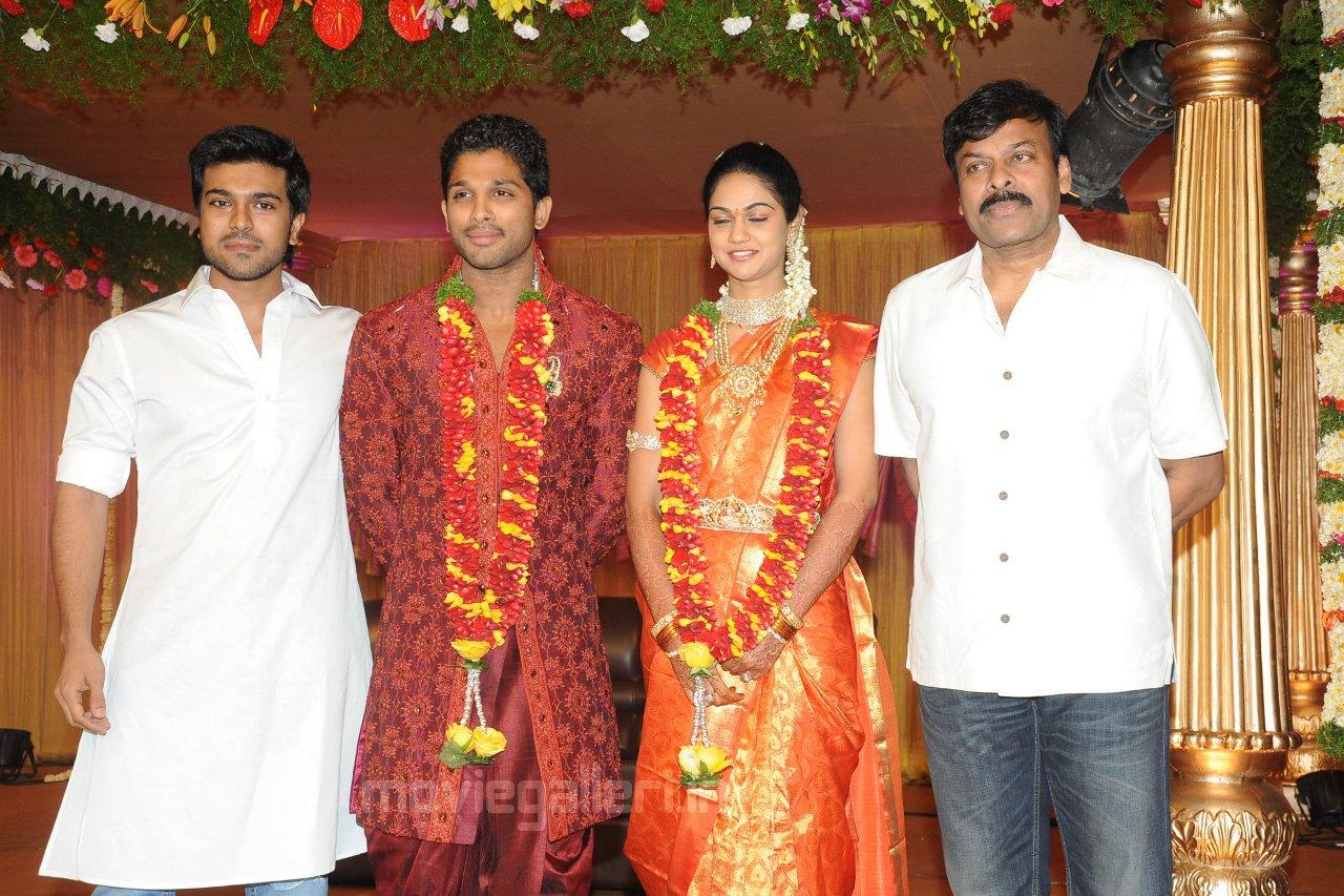 Ram Charan Teja Allu Arjun Reception Stills New Movie