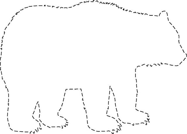 Silueta de un oso para imprimir - Imagui