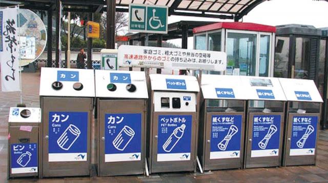 Hướng dẫn cách phân loại rác tại Nhật Bản