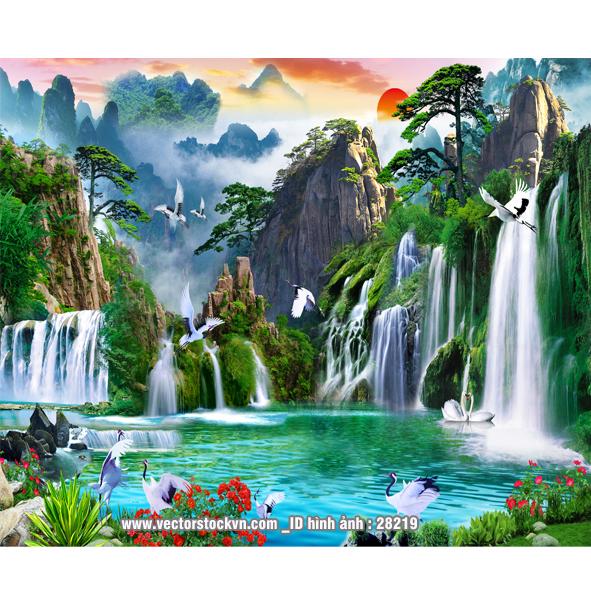 Thế Giới Tranh Dán Tường Phong cảnh thiên nhiên.