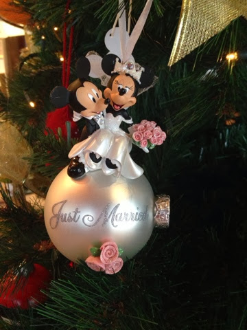Mickey and Minnie Just Married Bauble