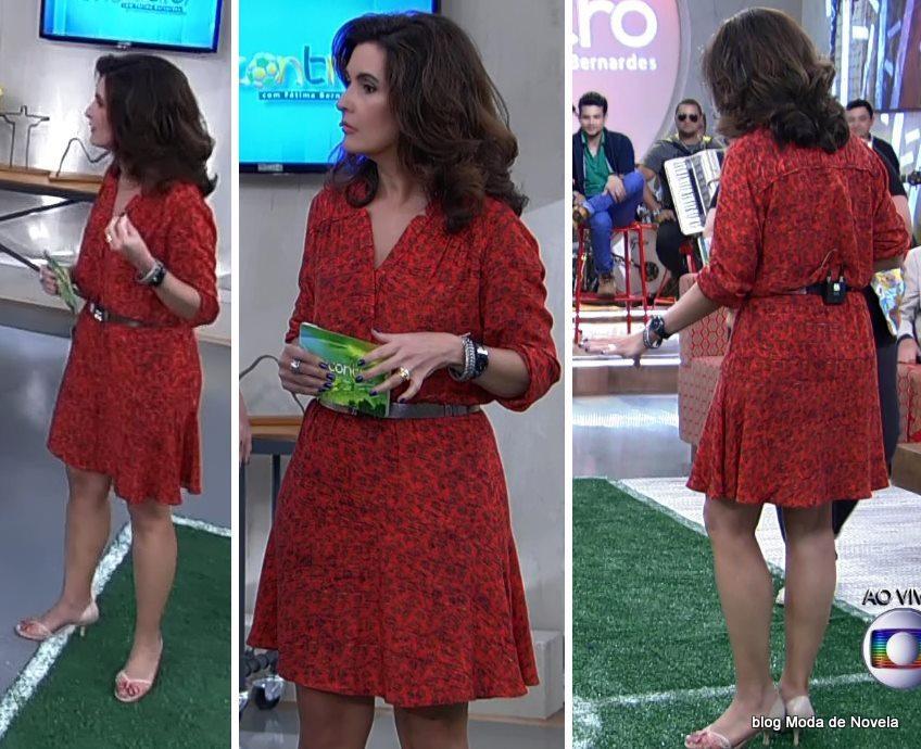 moda do programa Encontro - look da Fátima Bernardes dia 18 de junho