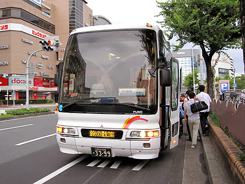 富士セービングバス「旅の散策」名古屋便 名古屋駅到着