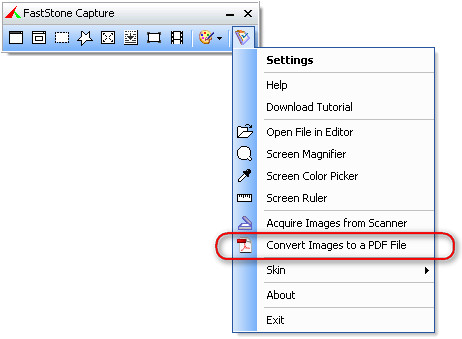 Convert Images to a PDF File