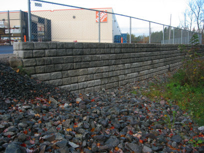 Halifax Home Depot retaining walls