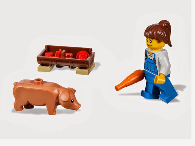 7684 レゴ 養豚場とトラクター
