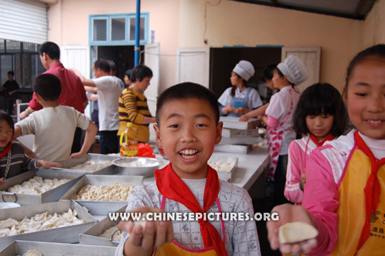 Chinese Kids and Dumplings Photo 5