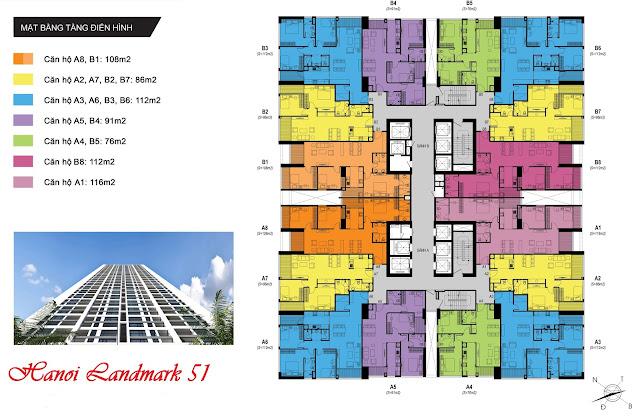 Thiết kế mặt bằng căn hộ Hanoi Landmark 51