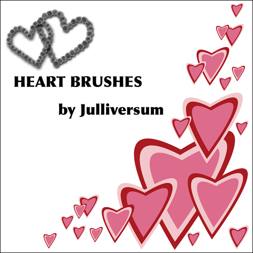 HIGH RES Heart Brushes by Julliversum
