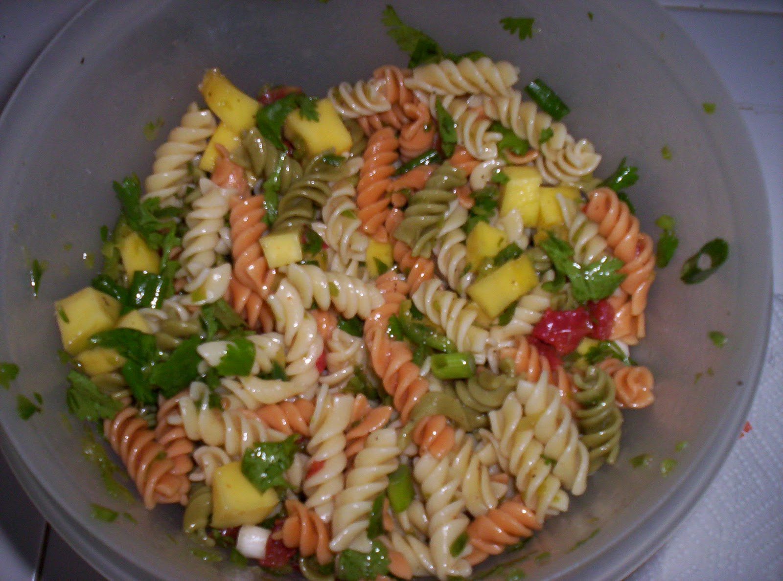 On the path to zen...: A Taste of the Tropics Pasta Salad