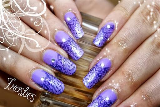 Violet + stamping violet