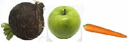 Фото - редька, яблоко, морковь. Рецепт