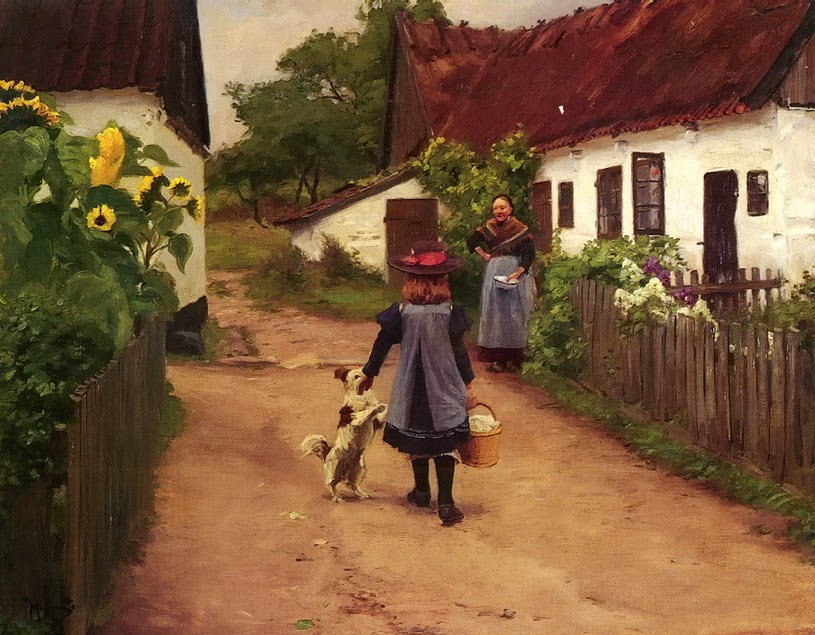 Hans Andersen Brendekilde - Visiting to grandmother