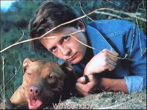 Michael J Fox and his dog Burnaby
