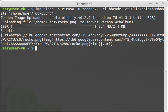 Image Upload Console Utility v0.2.4 screenshot