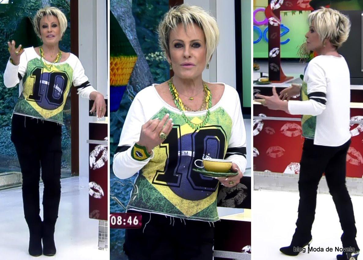 moda do programa Mais Você - look da Ana Maria Braga dia 27 de junho