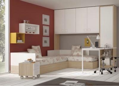 Dormitorios juveniles y habitaciones infantiles con dos camas for Habitacion infantil dos camas