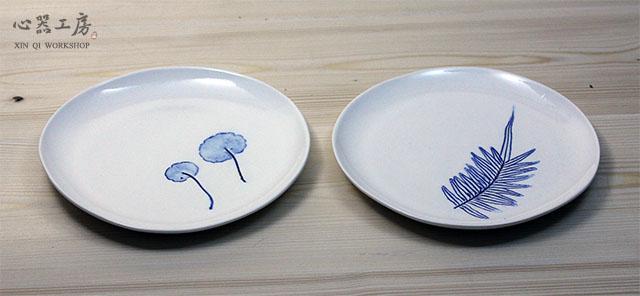 心器工房-臺灣常見植物系列-中盤‧透明釉藥