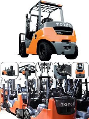 Xe nâng diesel Toyota 1 - 16 tấn Nhật Bản
