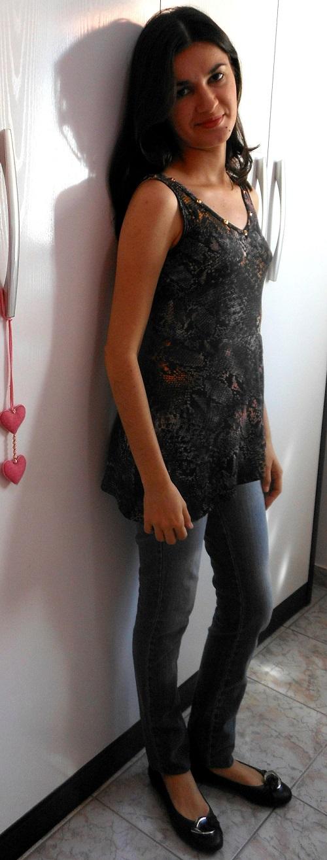 Look do dia - blusinha da Lunender customizada
