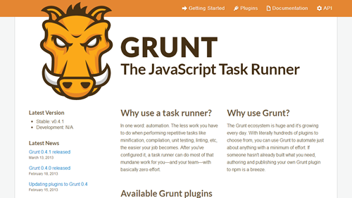 GRUNT: The JavaScript Task Runner